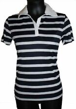 Polyester Polo Casual Striped Tops for Women