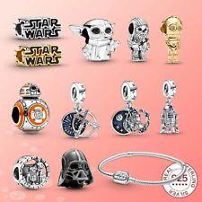 Star Wars Charm s925,Darth Vader, Chewbacca,yoda,C-3PO,BB 8, RD -D2 ,Star Wars