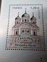 FRANCE, 2018, timbre CAPITALES EUROPEENNES TALLINN CATHEDRALE NEVSKI, neuf** MNH