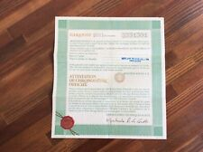 Rolex Vintage 1601 Certificate Guarantee Paper 570.01.300 + Free Shipping