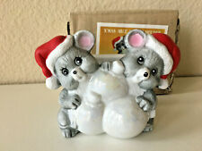 Vintage Christmas Santa Mice Napkin Holder House of Lloyd 1986