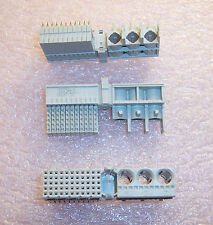 QTY (10) 100750-1 TYCO 55 POSITION R/A 2 PART M/F ZPACK HEADER RECEPTACLE
