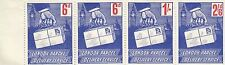 Stamps Great Britain London Parcel Delivery Service 2 x 6d, 1/- & 2/6 strip of 4