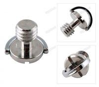 2x Captive 3/8 D-ring Tripod  Monopod Quick Release (QR) Plate Screws UK Seller