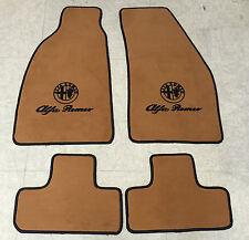Autoteppich Fußmatten für Alfa Romeo GTV ab 95' Dattel schwarz Velours 4tlg Neu