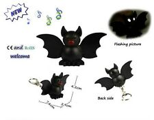 Cool Bat Key Chain Keyring with LED Light Sound Voice Halloween Gift Tricky Toys