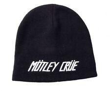 Motley Crue Logo Beanie Toboggan Hat Cap Rock Music Vince Neal Tommy Lee