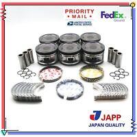 Pick up Piston With Ring Set JAPP PRK202.020 for 1990-1997 Nissan KA24E 2.4L L4 12V SOHC D21