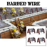 Barbed Wire Fence x4 Military Army WW2 A-Frame Barbwire WWII Blocks fits Lego