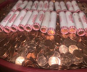$100 FACE VALUE BU LINCOLN PENNIES SHIELD/MEMORIAL TOTAL 68 POUNDS+ BULK LOT