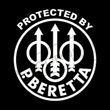 Protected by Beretta STICKER VINYL DECAL 2nd AMENDMENT PATRIOT AR-15 MOLON LABE