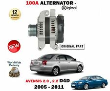 FOR TOYOTA AVENSIS 2.0 2.2 D4D DIESEL 2005-2011 NEW ORIGINAL 100A ALTERNATOR