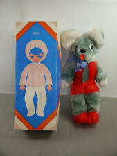 GDR Plush Mouse VEB Elsterwerder Plasticart Approx. 30cm with Box (K45)