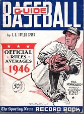 1946 Sporting News Baseball Guide, Hal Newhouser, Detroit Tigers ~ Fair