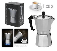 New Italian Espresso Latte Cafetiere Coffee Maker for 1 Cup Percolator