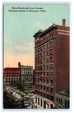 Main Street Court Square Business Center Memphis TN Tennessee Postcard Kress A6