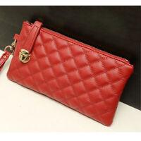 Fashion Women Zip PU Leather Clutch Case Lady Long Handbag Wallet Purse P4PM