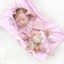 "18"" Full Silicone Reborn Baby Dolls Girl Real Baby Doll Anatomically Correct"