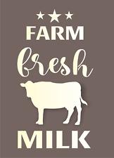 Joanie Milk Stencil Farm Fresh Dairy Cow Stars Reusable Mylar DIY Craft Signs