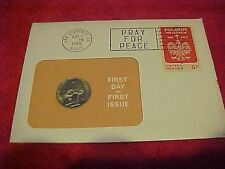 1966 #21 99 COMPANY FIRST DAY FIRST ISSUE US NICKEL 5 CENT THOMAS JEFFERSON LEFT