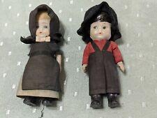 2 pilgrims bisque doll