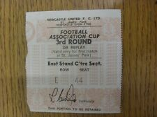 05/01/1980 Ticket: Newcastle United v Chester City [FA Cup] Ticket Is not Dated