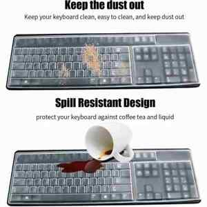 Universal Clear Keyboard Skin Protector Silicone Cover for PC Computer Desktop