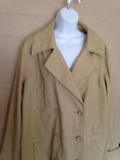 Womens Beige Avenue PVC Coat/ Jacket.Size 18/20. Lined. Long Sleeve