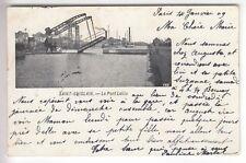 CPA  EUROPE BELGIQUE  -  HAINAUT SAINT GHISLAIN PONT BRIDGE LEBLU 1909 ~D12