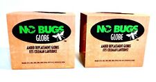 (2) No Bugs Globes DARK AMBER - They Fit Coleman Lanterns 214 282 285 286+ More