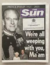 More details for the sun - prince philip death 10/4/2021 historic souvenir edition rare newspaper