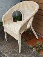 Vintage Lloyd Loom Style Bedroom Conservatory Chair Wicker Retro