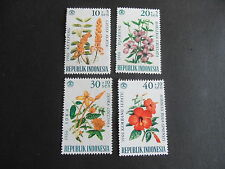 INDONESIA 1966 SG 1108-1111 FLOWERS MNH