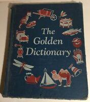 The Golden Dictionary Hardcover Ellen Wales Walpole Golden Press 1944