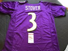 Matt Stover Signed Baltimore Ravens Purple Custom Jersey JSA Witness