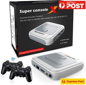 Super Console X  PRO 30000+ Game Wireless Controllers PS1 SEGA DC SNES PSP N64