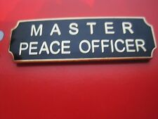 MASTER PEACE OFFICER COMMENDATION AWARD METAL PIN POLICE, SHERIFF BLACK OR BLUE*