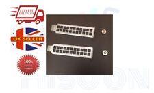 2PC PCI Bracket Slot Case Dust Filter Sliver Steel Blank Blanking Plate FREE P&P