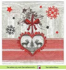 Servietten mit Weihnachts-Muster
