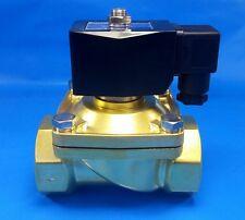 2 Npt 12 Volt Dc Electric Nc Brass Solenoid Valve Air Water Vacuum Diesel