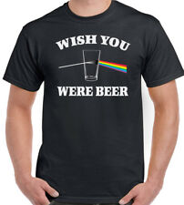 Wish You Were Beer Mens Funny T-Shirt Pink Floyd Alcohol Parody Dave Gilmour