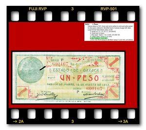 MEXICO REVOLUTION OAXACA UN PESO 03.09.1915 P-S953e SERIES P BANKNOTE AU/UNC