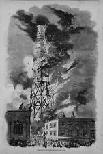 FIREMEN FIGHTING FIRE DESTRUCTION OF THE LATTING OBSERVATORY NEW YORK HISTORY