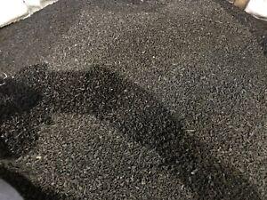 Rubber Mulch - Super Sack 2,000 black landscape, Made in Noble, Oklahoma