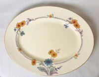 Vintage Woods Ivory Ware England Platter Marguerite Design Plate Dish Serving