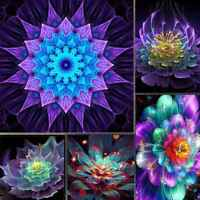 Flower 5D DIY Diamond Embroidery Painting Cross Stitch Kits Craft Art Home Decor