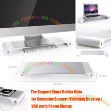 Excellent Aluminum Laptop Notebook Monitor Support Stand Holder USB for Mac book