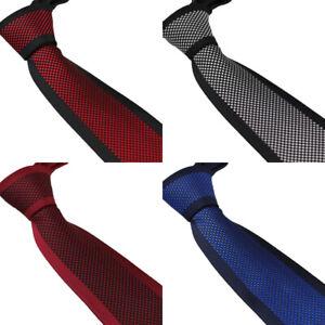 Coachella Ties Panel Polka Dots Jacquard Woven Necktie Border Formal Tie 8.5CM
