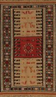 4x6 Tribal Traditional Kilim Geometric Oriental Area Rug Wool Hand-Woven Carpet