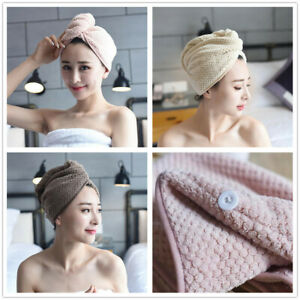 Quick Dry Magic Hair Towel Turban Microfibre Wrap Cap Hat Bath Shower Turbie